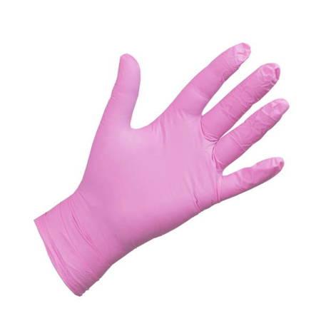 Rękawice nitrylowe bezpudrowe różowe A\'100