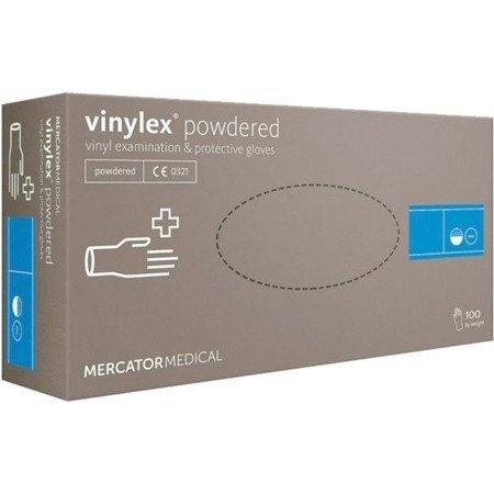 rękawice winylowe bezpudrowe 100 szt Vinylex białe